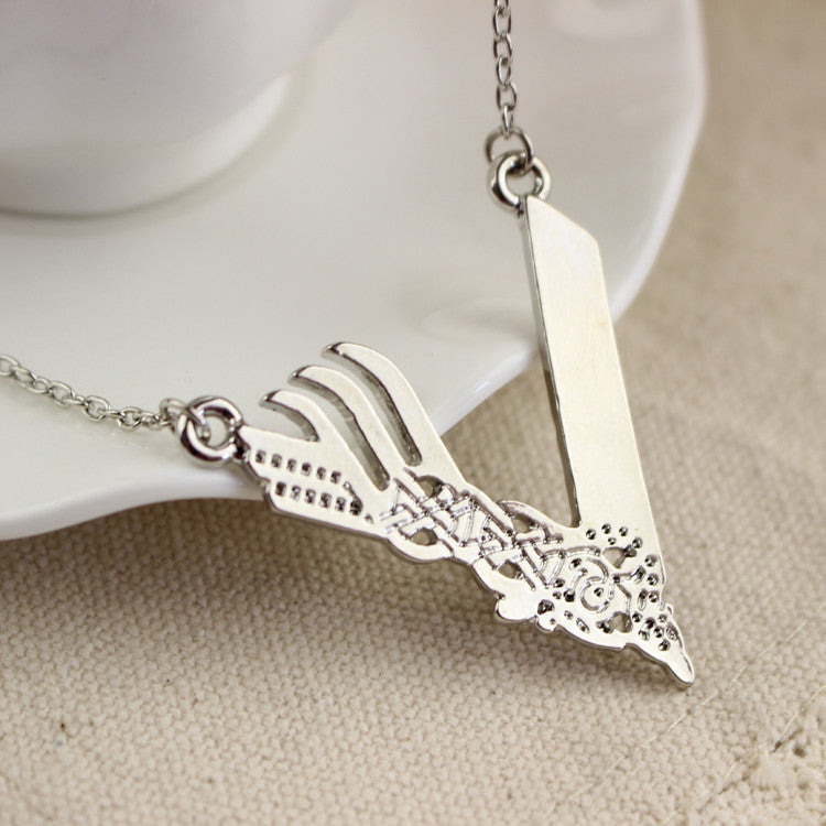 Necklace - Silver Plated Vikings Chain Necklace (Unisex)