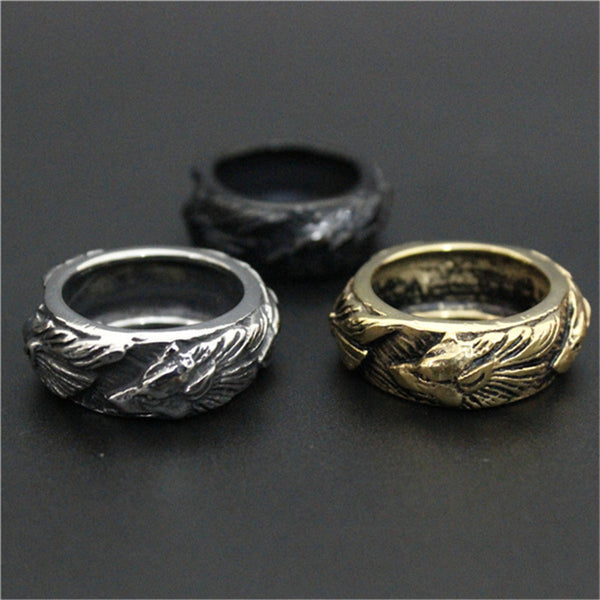 316L Stainless Steel Wolf Rings - Indo Wolf