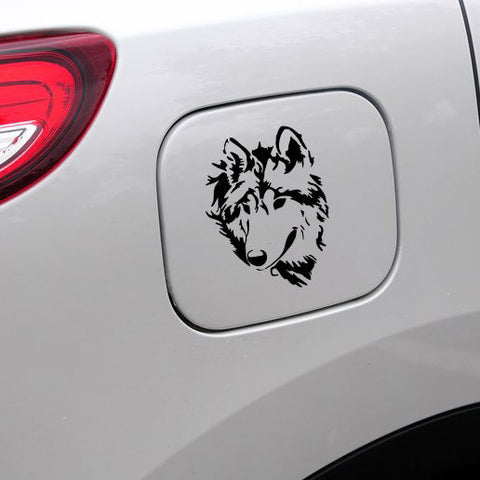 Wolf Head Car Decal Vinyl Car Sticker - Indo Wolf