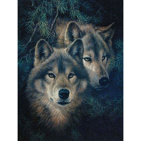 DIY Diamond Embroidery Wolf Pattern Painting - Indo Wolf