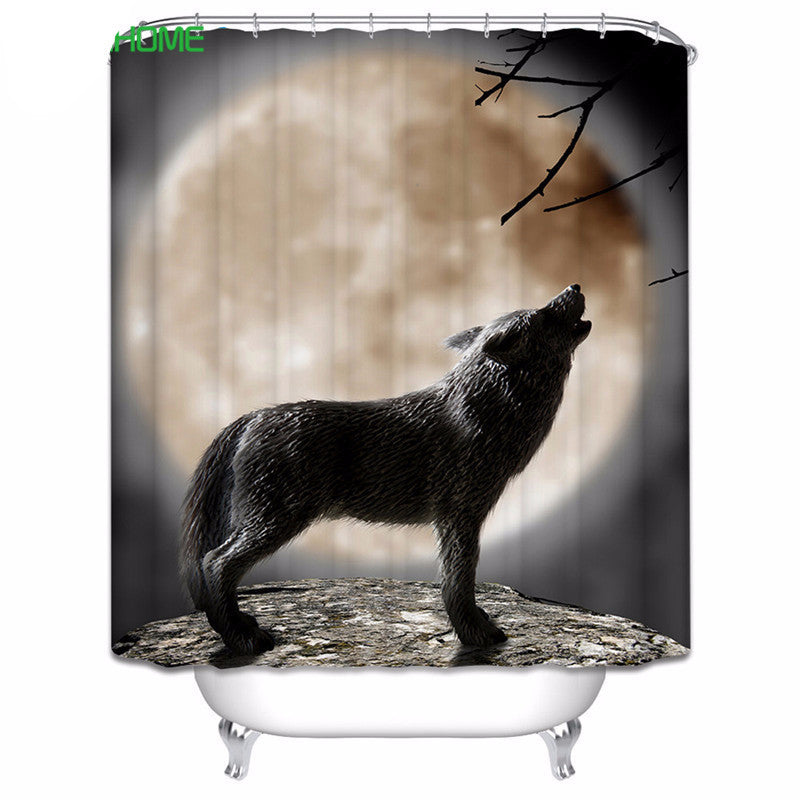 Howling Wolf Shower Curtain - Indo Wolf
