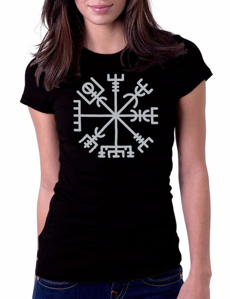 Viking Compass T-Shirt (Women) - Indo Wolf