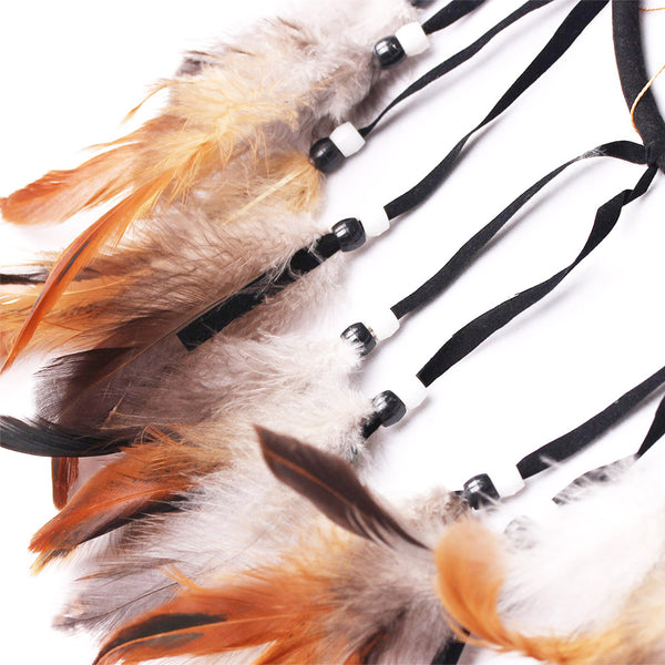 Handmade Feather Decoration Wolf/Eagle - Indo Wolf