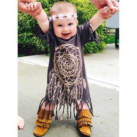 Dream Catcher Toddler Dress - Indo Wolf