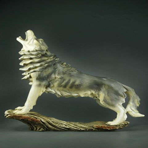 Collectible Howling Wolf Figurine - Indo Wolf