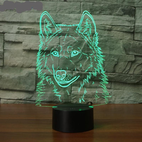 3D Wolf Night Lamp Table Lamp - Indo Wolf