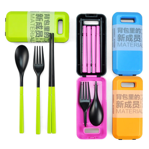 Portable Cutlery (Fork Chopsticks Spoon) Eco-friendly - Indo Wolf