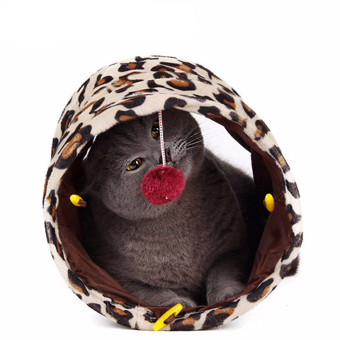 Cat Leopard Tunnel with Ball - Indo Wolf