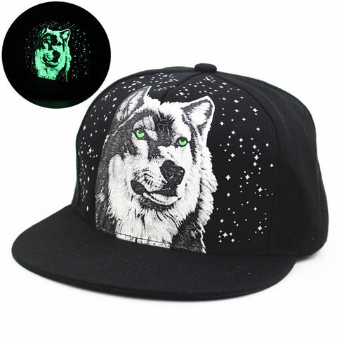 Glow In The Dark Wolf Caps - Indo Wolf