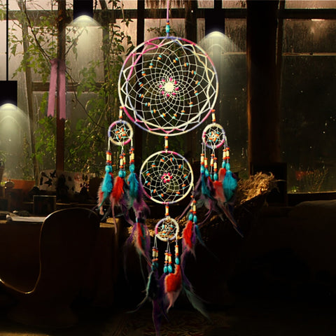 Colorful Handmade Dream Catcher - Indo Wolf