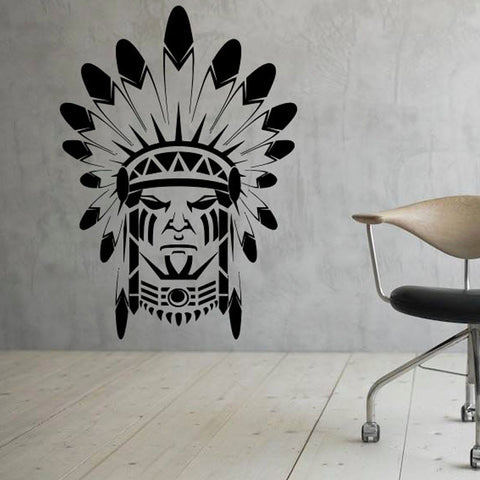 Wall Stickers - Waterproof Wall Stickers Home Decor Native American Indian (Removable )