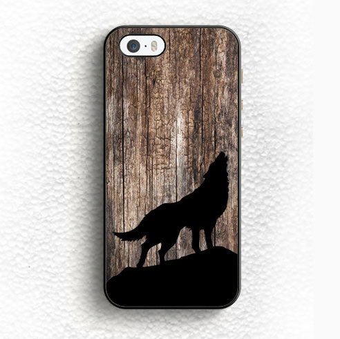 Howling Black Wolf Phone Cover Case For Samsung Galaxy The Indo Wolf