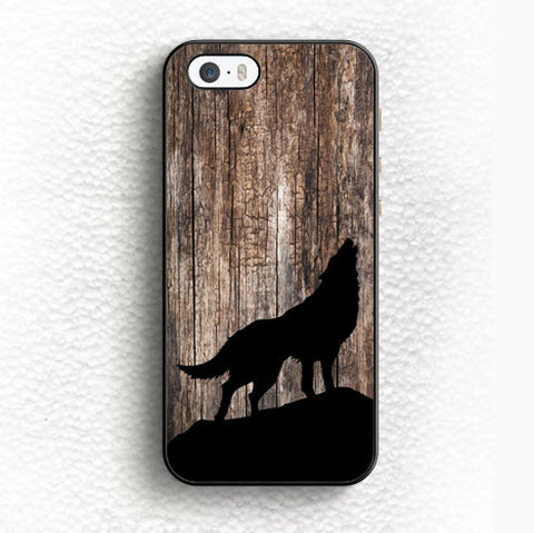 Howling Black Wolf Phone Cover Case For Samsung Galaxy - Indo Wolf