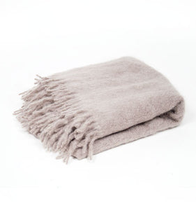 Classic Mink Mohair Throw