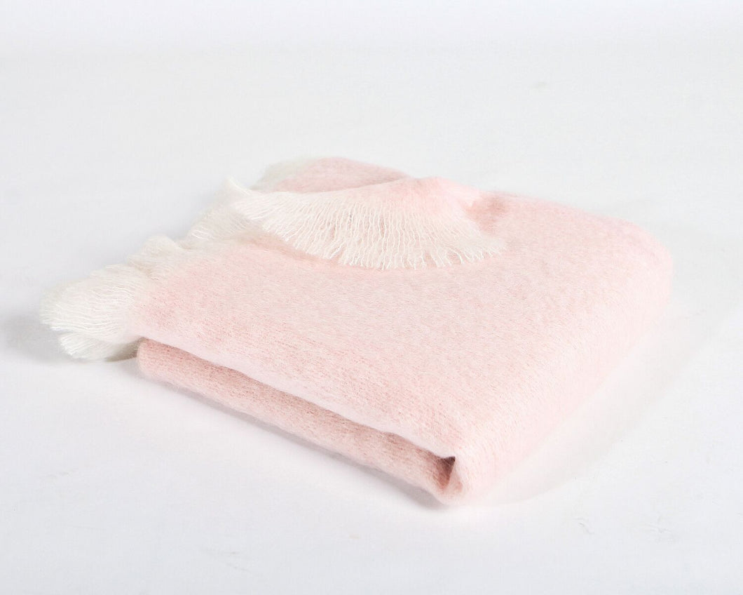 White and Pink Mohair
