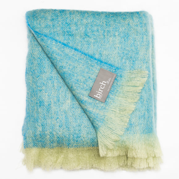 Blue and Green Throw