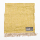 Blazing Yellow Linen Throw
