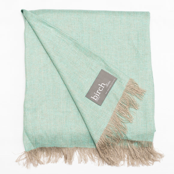 Mint Green Linen Throw