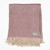 Mauve Linen Throw