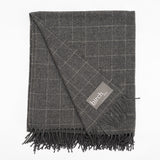 Classic Graphite Windowpane Throw
