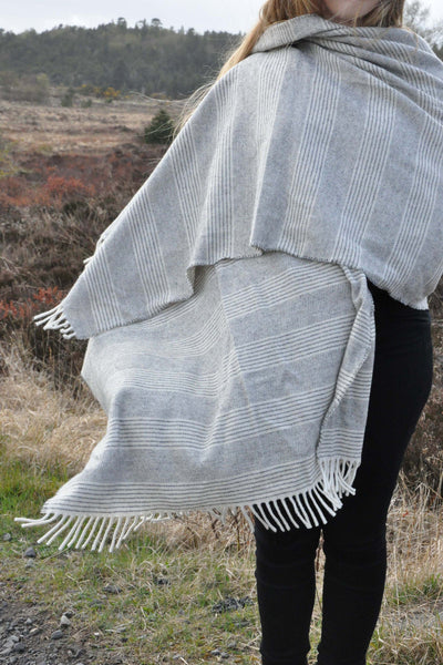 Sand Grey Stripe Wrap