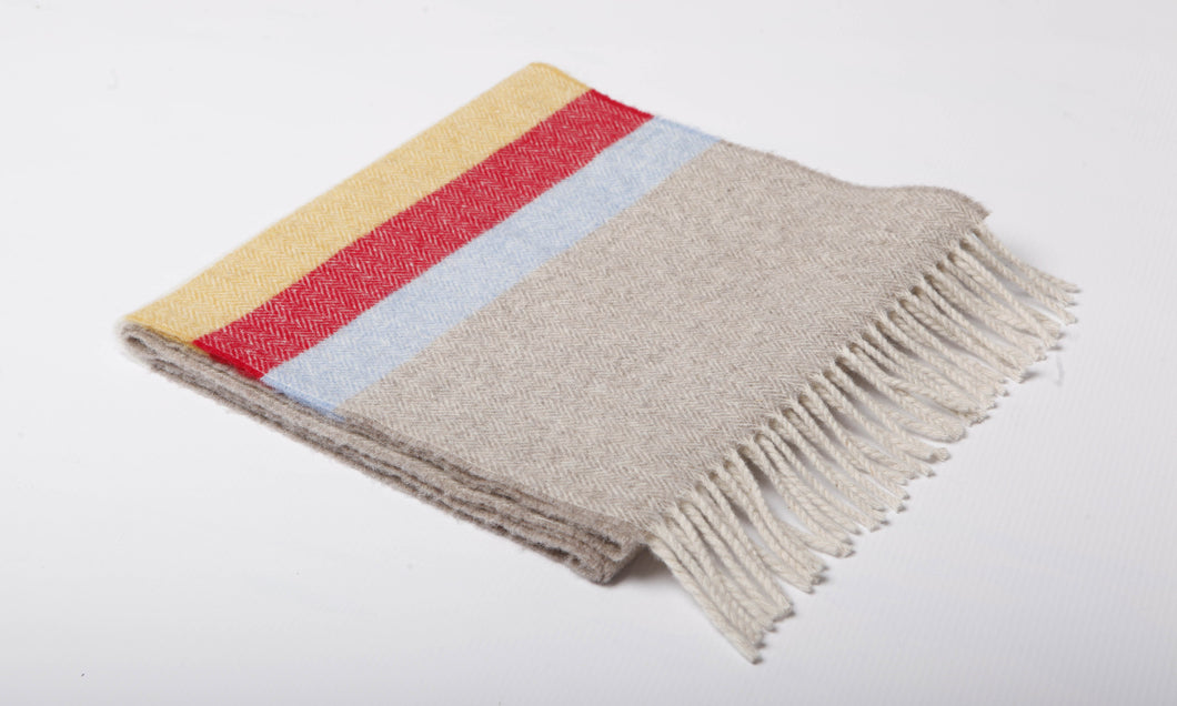 Sand Stripe Lambswool Scarf