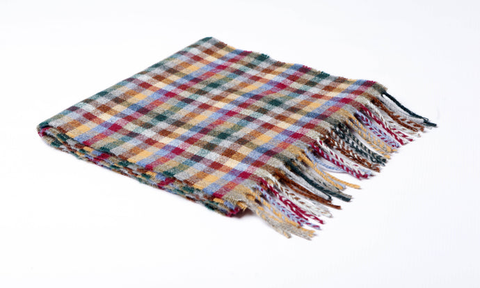 Cranford Mini Check Lambswool Scarf