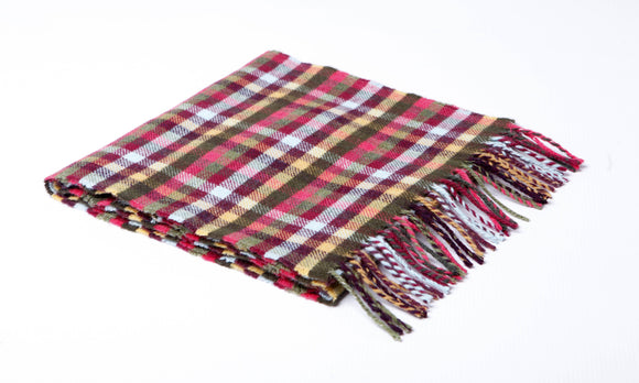 Calypso Mini Check Lambswool Scarf