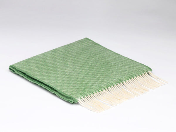 Grass Green Herringbone