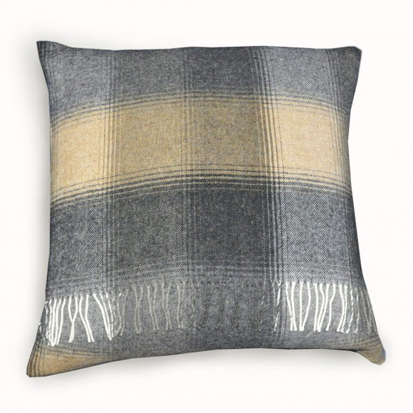 Sand/Stone Lambswool Pillow – Small