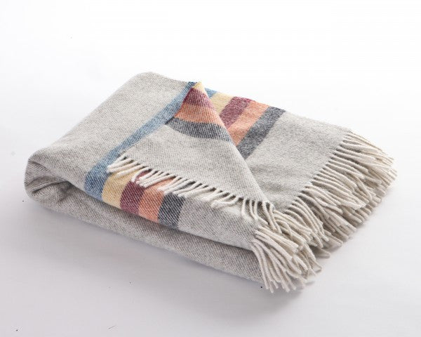 Grey Snug Stripe Throw