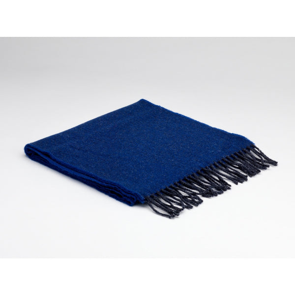 Royal Blue & Charcoal Lambswool Scarf