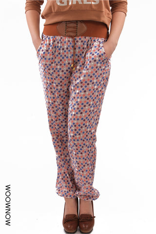 Dots Print Trousers