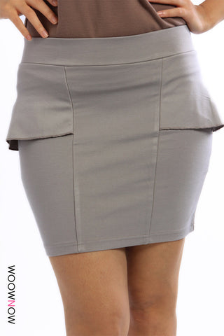 Stretch Peplum Skirt