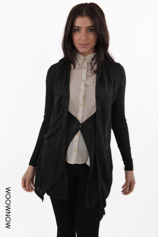 Megan Buttoned Knit Cardigan
