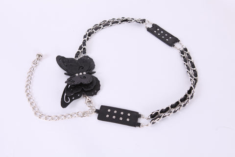 Butterfly Buckle with Diamond Detail Chain Belt