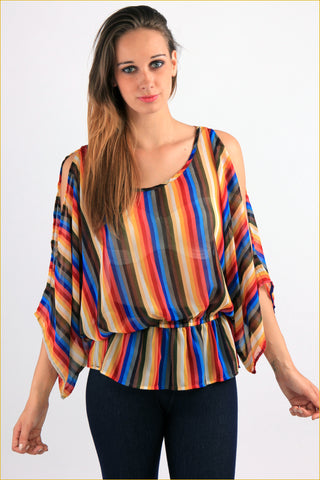 Multicolour Stripes Blouse
