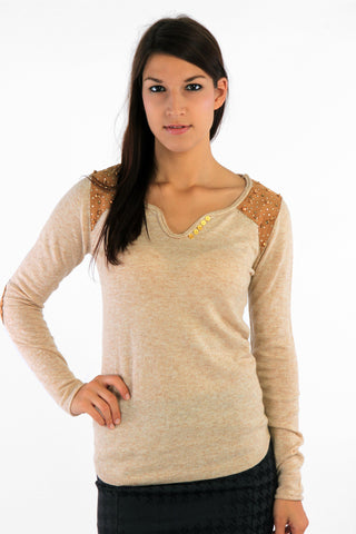 Patch and Stud Detail Jumper