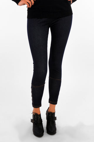 Cross Detail Jeggings