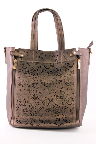 Lace Insert Tote Bag and Case