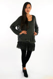 3 Pieces: Jumper, Tunic and Knitted Collar