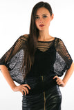 Batwing Metallic Jumper