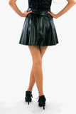 Leather-look Skater Mini Skirt