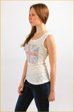 British Flag Lace Top