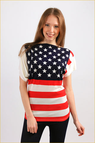 American Dream Print Top