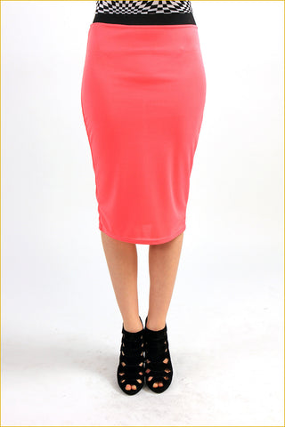 Get Happy! Basic Midi Skirt