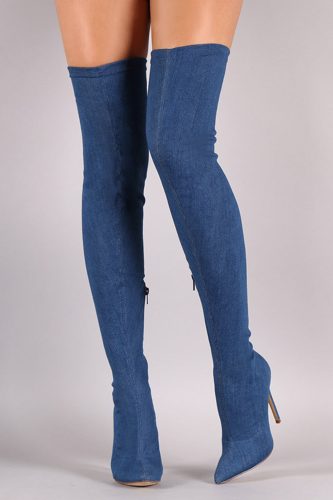 a699b52d33 Liliana Thigh High Pointed Toe Stiletto Heel Boot – Fashion Unlimited