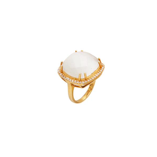 White Quartz Ring