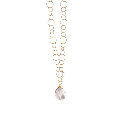 Shauna Crystal Pendant Gold Chain