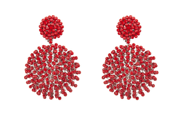 Puffy Red Earrings